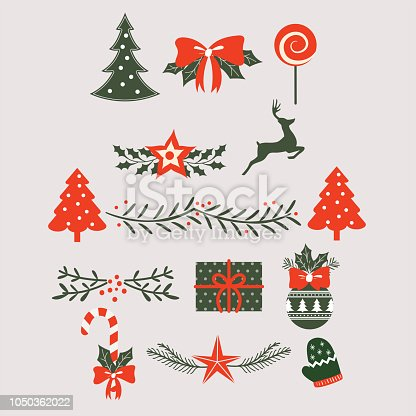 christmas background elements