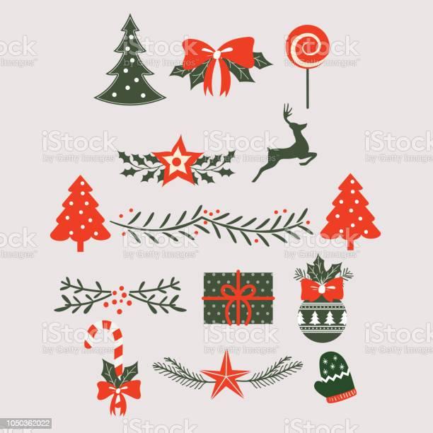 Christmas Label And Design Elements For Postcards - Stockowe grafiki wektorowe i więcej obrazów Abstrakcja