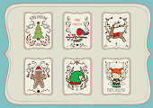 christmas background elements