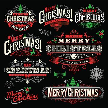 Christmas Label Set 1