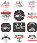 drawing of vector Christmas labels.This file was recorded with adobe illustrator cs4 transparent.EPS10 format.