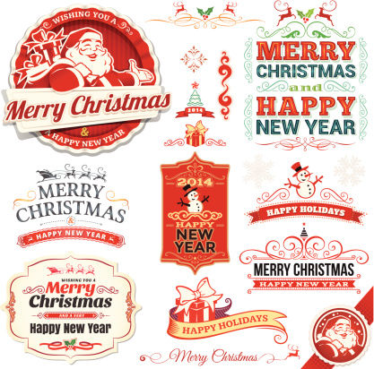 Christmas Labels and Banners