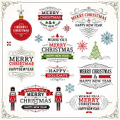 Christmas labels and elements.Grouped and layered with global colors. Please take a look at other work of mine linked below.