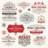 Set of Christmas labels,frames and banners.File is grouped and layered with global colors.Hi-res jpeg included.More works like this linked below.