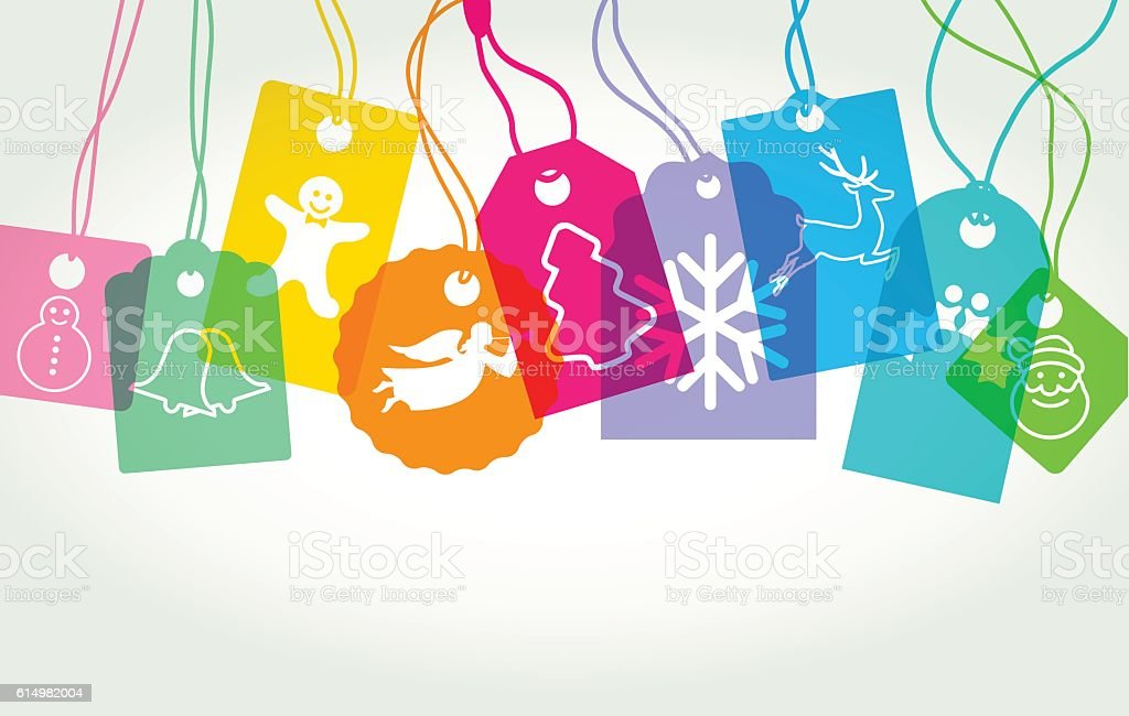 Christmas labels or tags vector art illustration