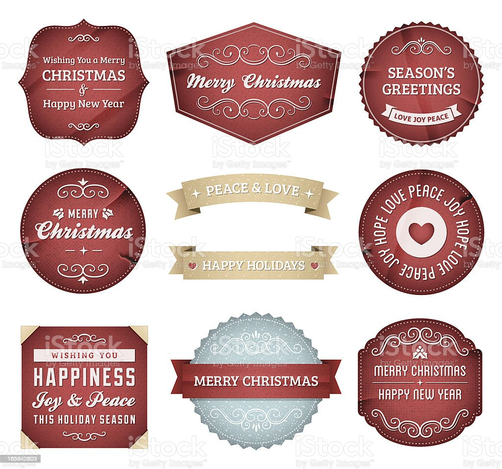 Christmas Labels royalty-free christmas labels stock vector art & more images of christmas