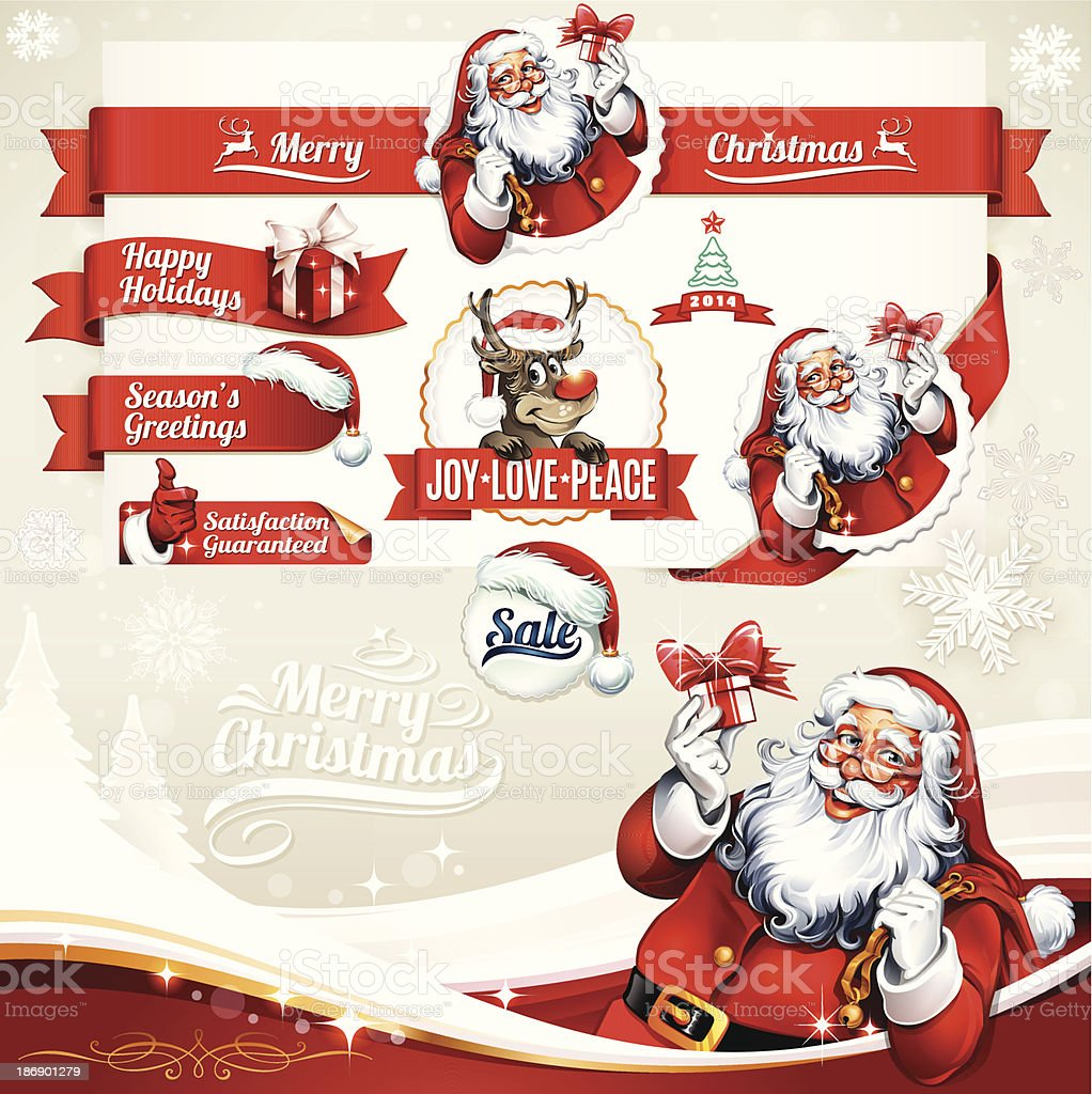 Christmas Labels royalty-free christmas labels stock vector art & more images of backgrounds
