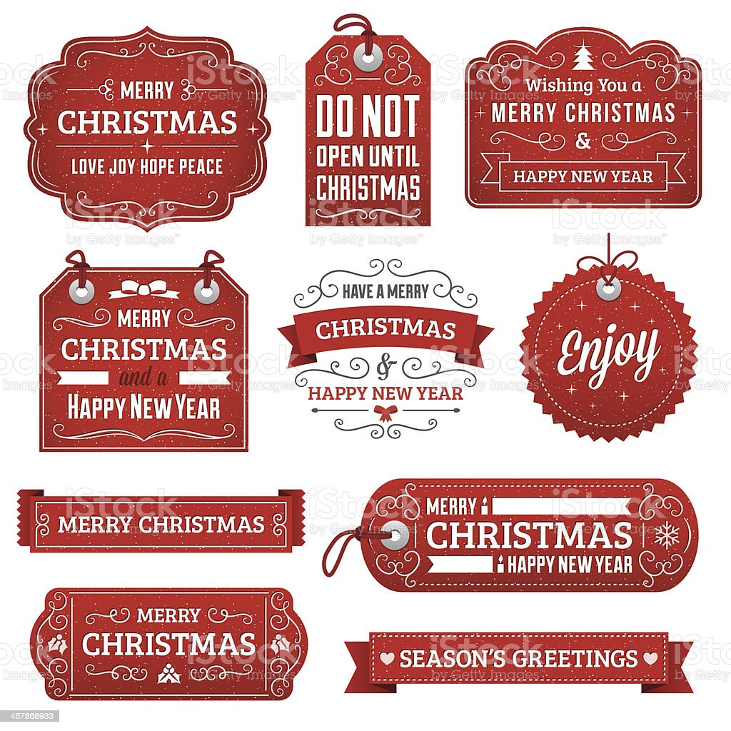 Christmas Labels vector art illustration