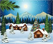 Christmas Landscape Background.http://i1217.photobucket.com/albums/dd384/vinumar/2.jpg?t=1291453045
