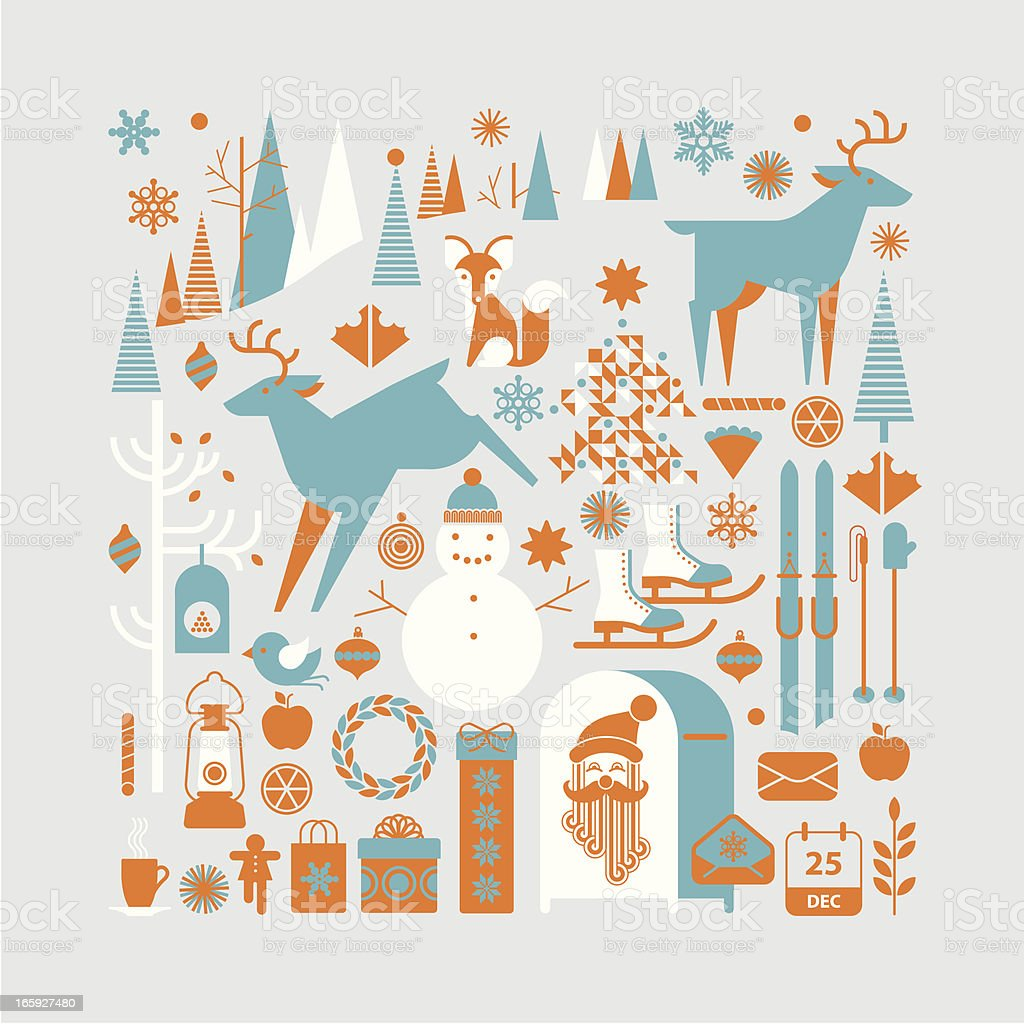 Christmas landscape royalty-free stock vector art