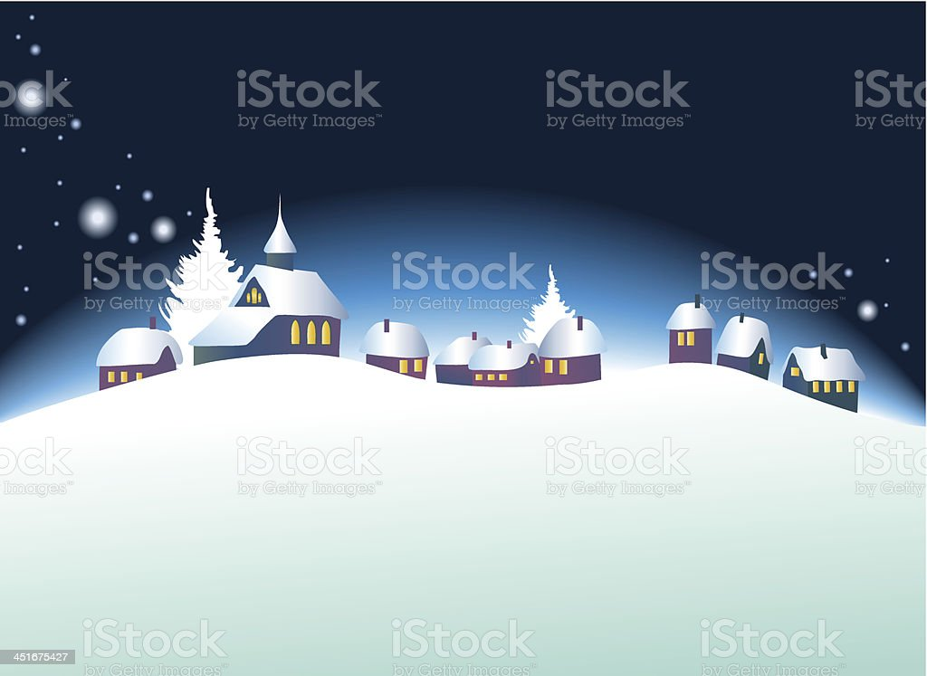 Christmas landscape royalty-free christmas landscape stock vector art & more images of cartoon