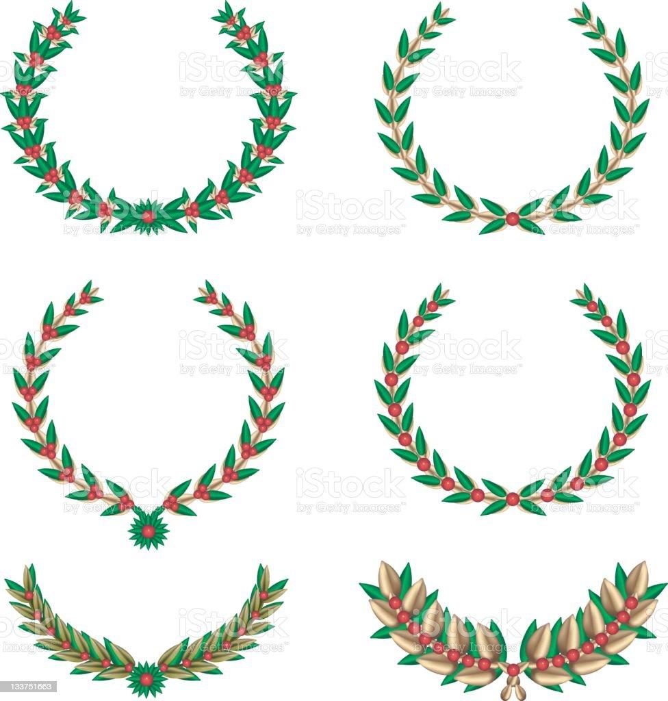 Christmas Laurel royalty-free stock vector art