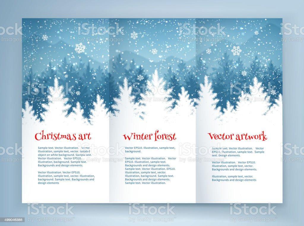 Christmas Leaflet Background.Christmas Leaflet Design Stock Vector Art More Images Of