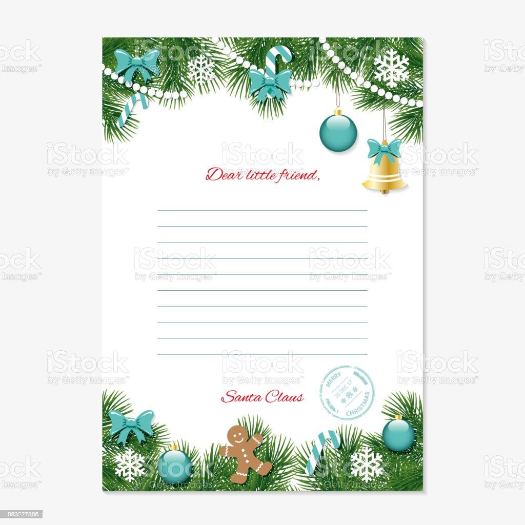 クリスマス サンタ クロース テンプレートからの手紙a4 サイズ 2017年