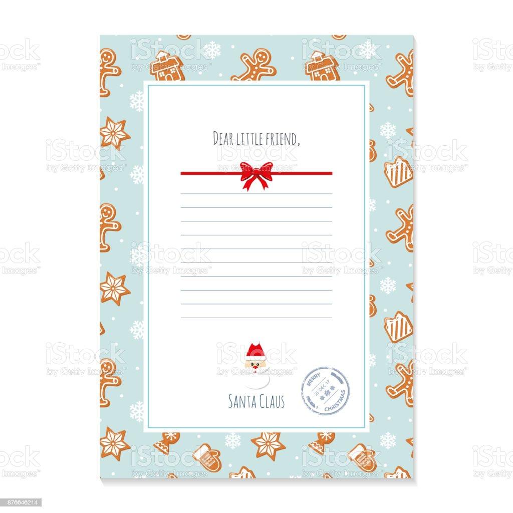 クリスマス サンタ クロース テンプレートからの手紙a4 サイズで