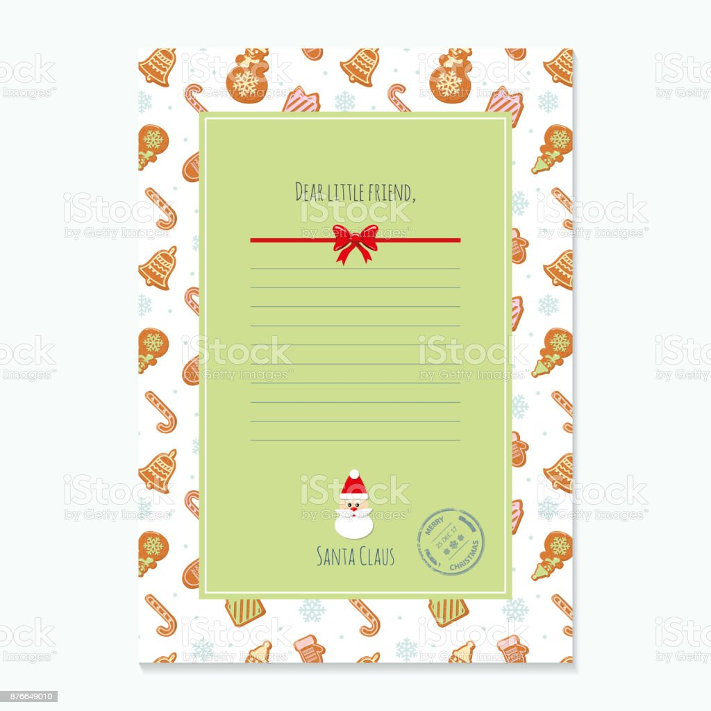 Christmas Letter From Santa Claus Template Layout In A Size Pattern