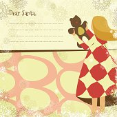 Christmas card with copy space for you to write your letter to Santa.