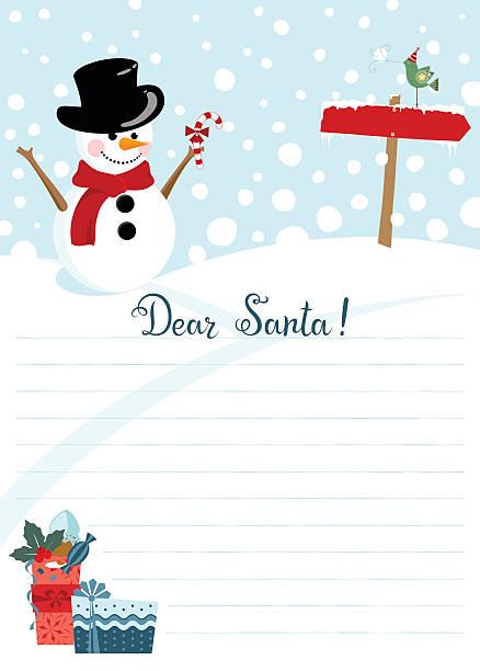 weihnachten, brief an den weihnachtsmann - wunschkinder stock-grafiken, -clipart, -cartoons und -symbole