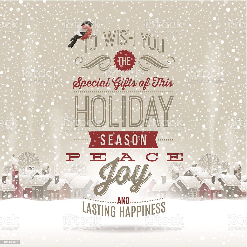 Christmas lettering greetings - vector illustration vector art illustration