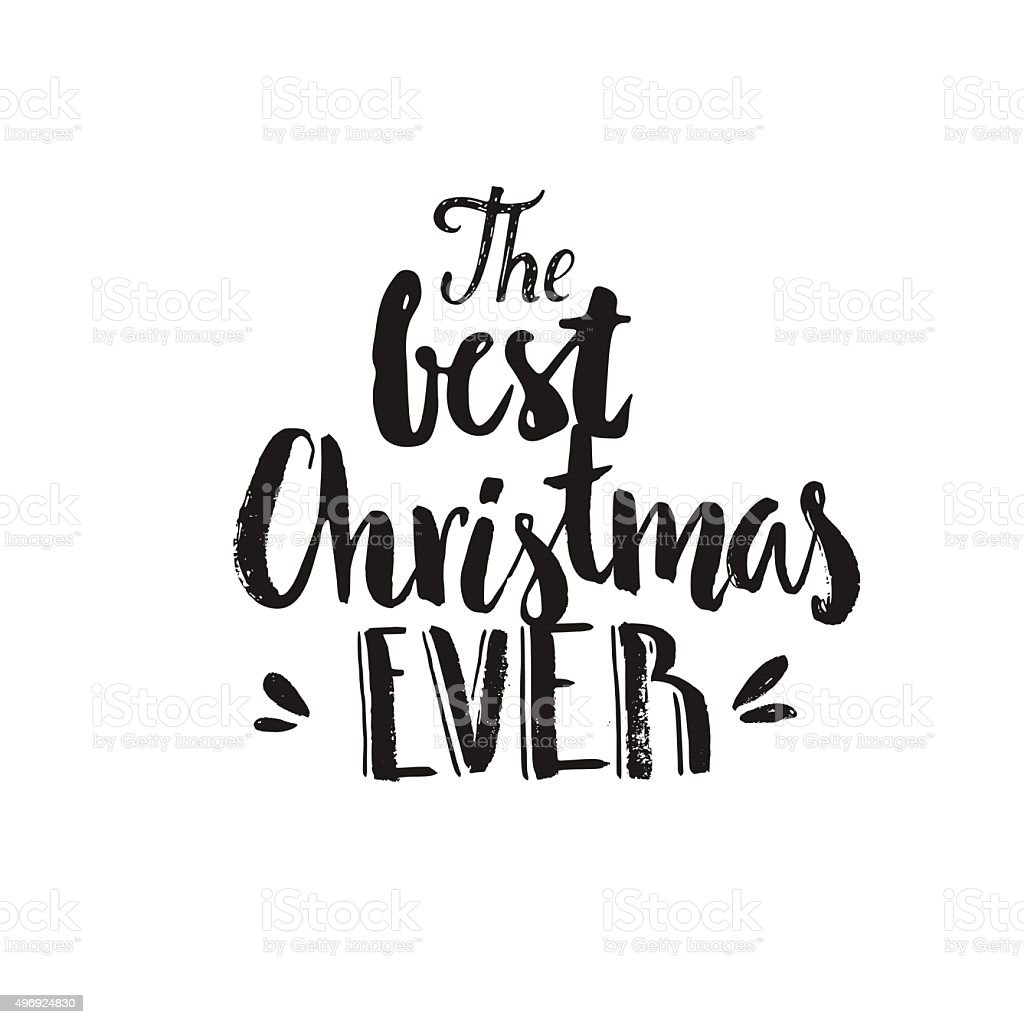 Christmas Lettering vector art illustration