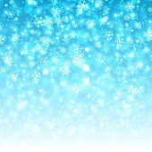 Christmas light and snowflakes vector background