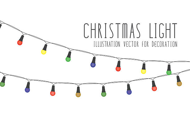 royalty free christmas lights clip art vector images