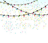 istock Christmas Lights And Confetti Background 1188323648