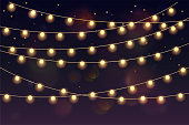 Christmas Lights, Text, Banner - Sign, Typescript, Holiday - Event