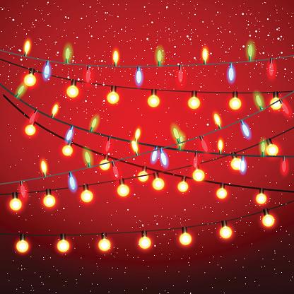 Christmas Lights Background.Christmas Lights Background Stock Illustration Download Image Now
