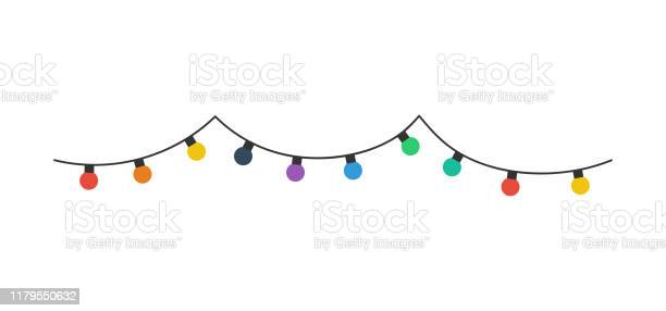 크리스마스 전구입니다 흰색 배경에 고립 된 크리스마스 전구색상 행에 크리스마스 전구 벡터 Political Party에 대한 스톡 벡터 아트 및 기타 이미지