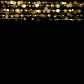 istock Christmas lights design elements background. Glowing lights 624185414