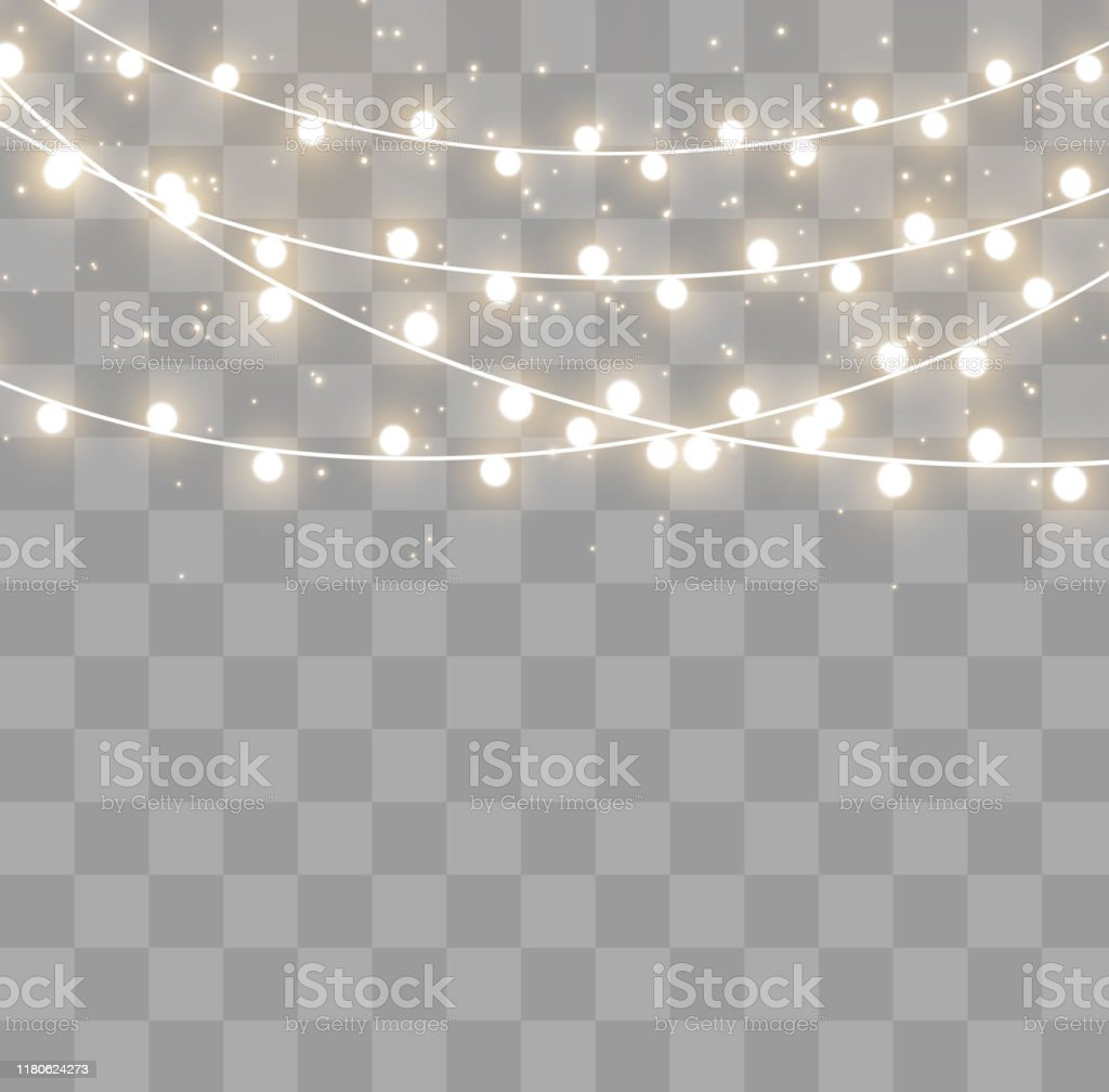 Christmas lights effect - Grafika wektorowa royalty-free (Abstrakcja)