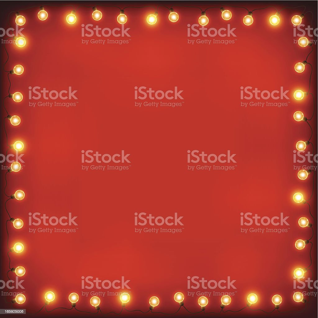 Christmas lights frame royalty-free christmas lights frame stock vector art & more images of backgrounds