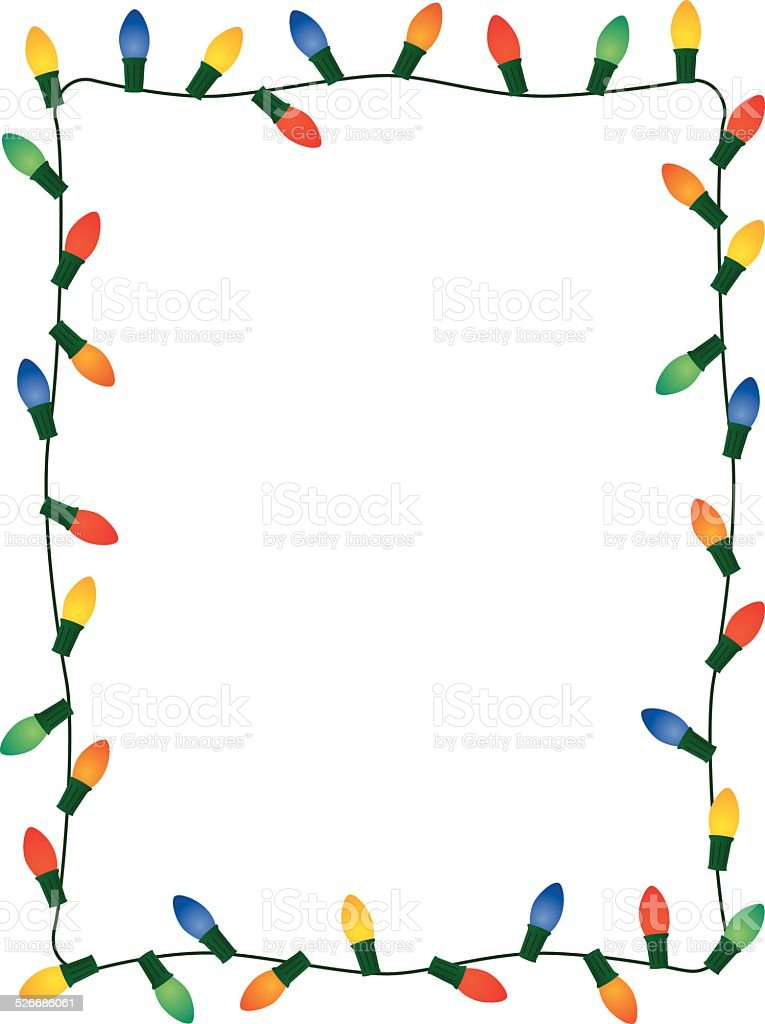 christmas lights frame stock vector art more images of award rh istockphoto com vector christmas lights free vector christmas string lights