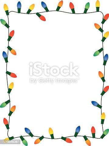 istock Christmas Lights Frame 526686061