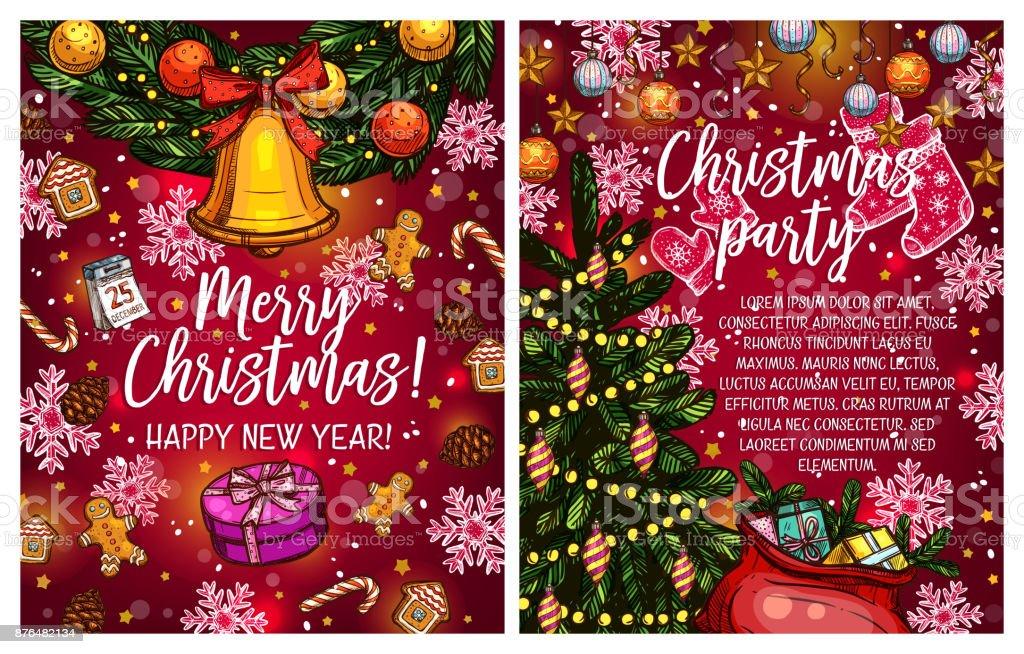 Weihnachtsbeleuchtung Kranz.Weihnachtsbeleuchtung Kranz Vektor Skizze Gruß Stock Vektor Art Und