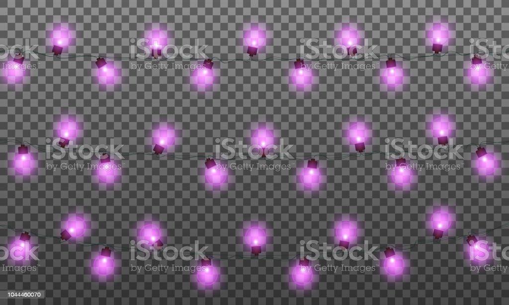 Christmas lights garland background vector download