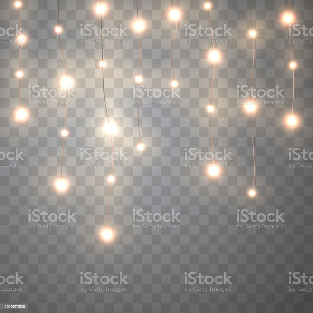 Christmas Lights Isolated On Transparent Background Stock Vector Art