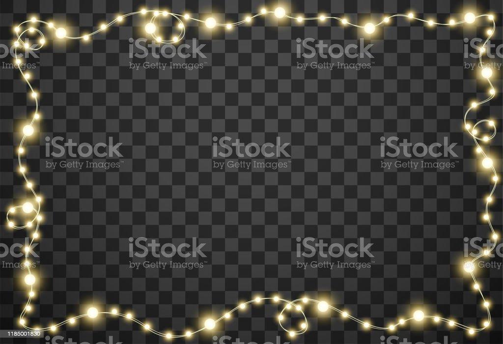 Julbelysningen isolerad på transparent bakgrund, vektor illustration - Royaltyfri Abstrakt vektorgrafik