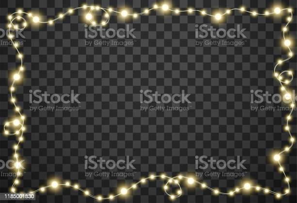 Julbelysningen Isolerad På Transparent Bakgrund Vektor Illustration-vektorgrafik och fler bilder på Abstrakt