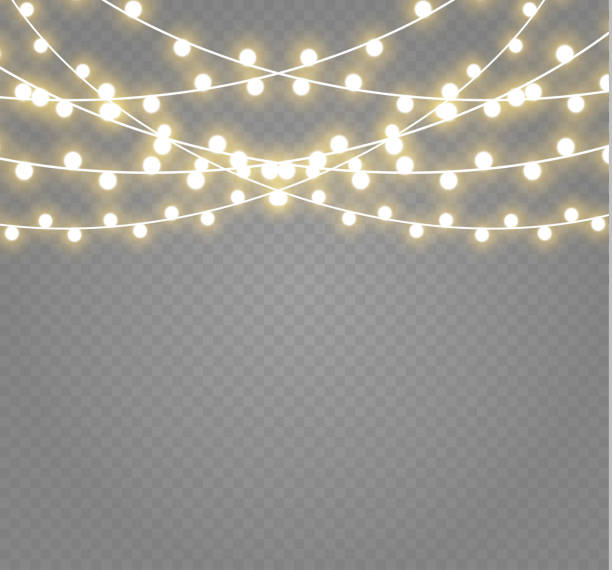 Royalty Free String Lights Clip Art, Vector Images