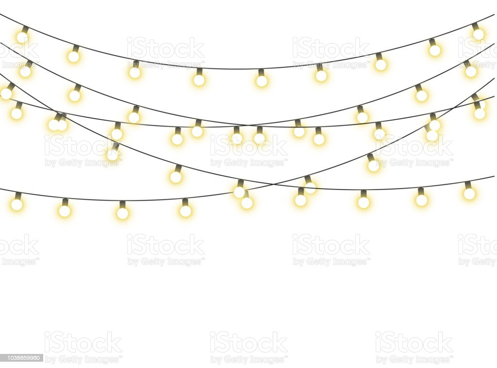 Christmas lights isolated royalty-free christmas lights isolated stock illustration - download image now