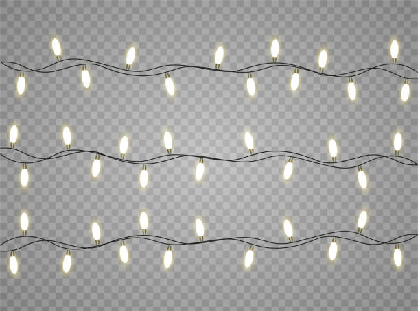 lampka bożonarodzeniowa - christmas lights stock illustrations