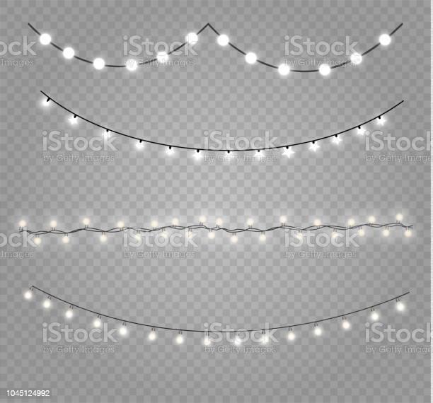 크리스마스 조명 전구 Ribbon Cutting에 대한 스톡 벡터 아트 및 기타 이미지