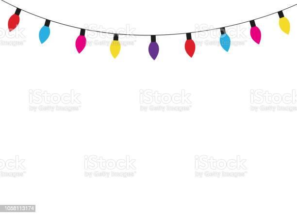 크리스마스 조명 램프 Ribbon Cutting에 대한 스톡 벡터 아트 및 기타 이미지