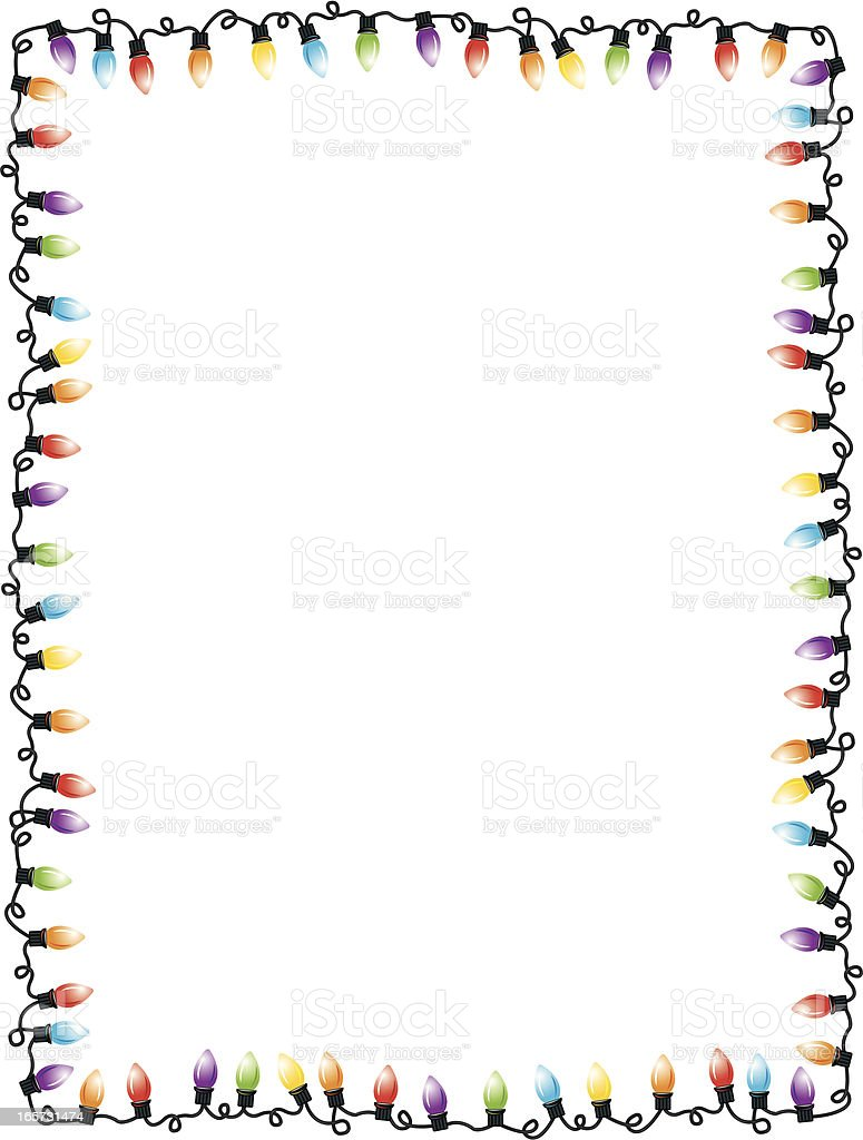 christmas lights party frame background royalty free christmas lights party frame background stock vector art - Christmas Lights Frame