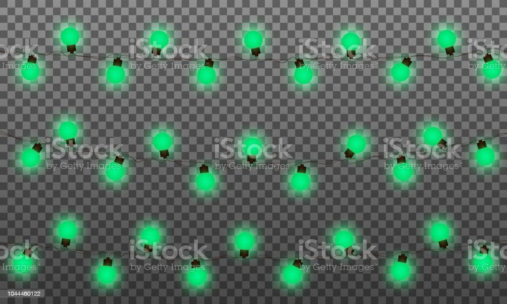 Christmas Lights Vector Effects Led Lamps Garland For New Year And