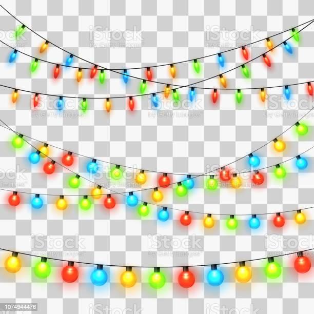 Christmas Lights - Stockowe grafiki wektorowe i więcej obrazów Abstrakcja