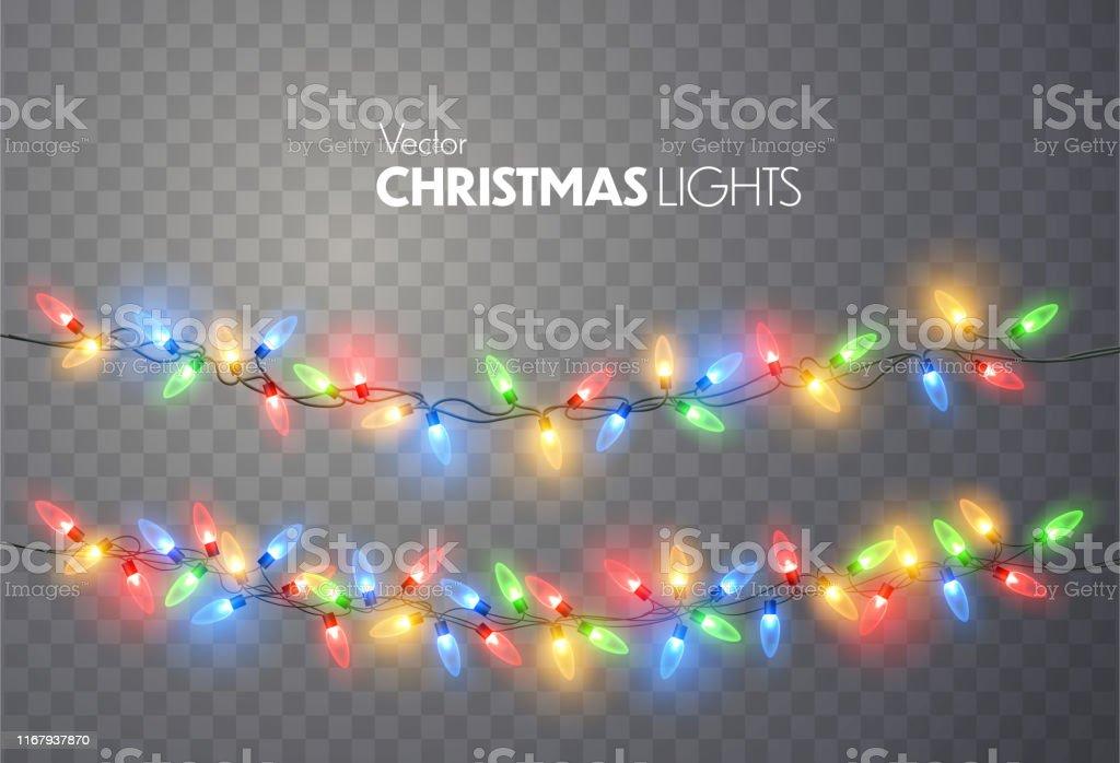 Świąteczne lampki. - Grafika wektorowa royalty-free (Abstrakcja)