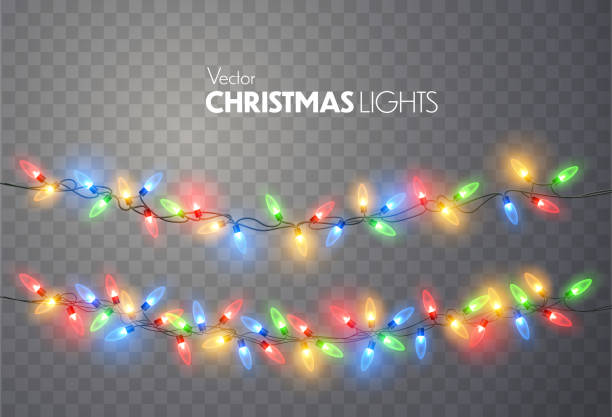 christmas lights. - christmas lights stock illustrations